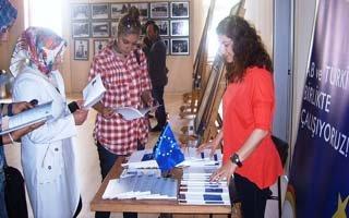 Bilgi Merkezi'nde AB tanıtım standı açıldı