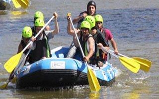 Gazetecilerin Rafting keyfi