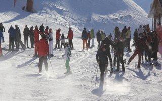 Palandöken'de kayak ve mangal keyfi