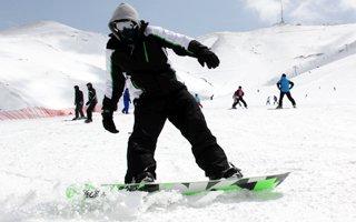 Palandöken'de bahar ayında kayak keyfi