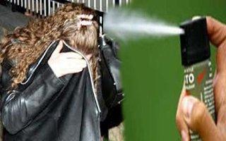 Hayat kadınına biber gazıyla gasp