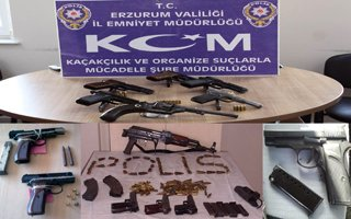 Erzurum'da silah kaçakçılarına darbe