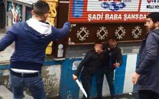 Erzurum'da bıçaklı gençler dehşet saçtı