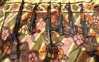 Karayazı'da çok sayıda mühimmat ele geçirildi