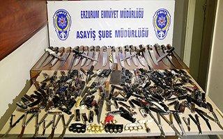 İşte Erzurum'un 1 yıllık suç aleti istatistiği