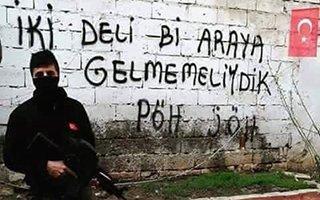 JÖH ve PÖH'ler Afrin'e duvar yazıları ile damga vurdu