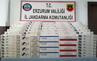 Erzurum Jandarmada'dan sigara operasyonu