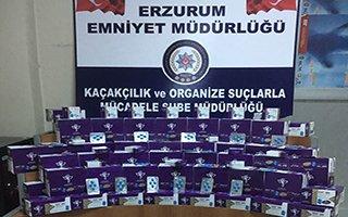Erzurum'da kaçak cinsel içerikli hap operasyonu