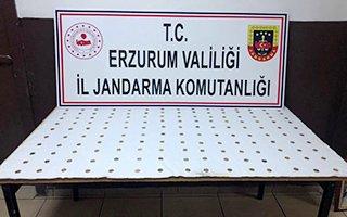 Erzurum'da Venedik dönemine ait sikkeler ele geçirildi