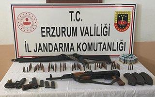 Erzurum jandarmadan kaçak silah operasyonu