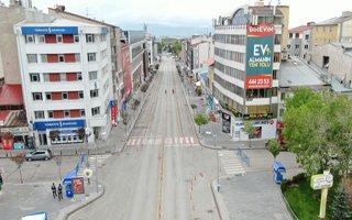 Erzurum'da denetimler havadan görüntülendi