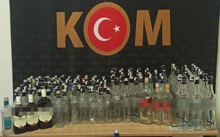 Erzurum Polisinden kaçak içki operasyonu