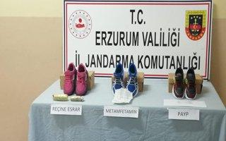 Erzurum'daki uyuşturucu operasyonunda ayakabı detayı!