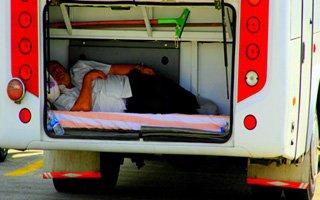 Erzurum'da sıcaklar şoförü bagaja soktu