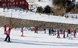 Palandöken'de kızak ve  kayak keyfi