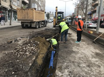 Erzurum'un içme suyu şebekeleri yenileniyor