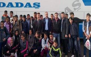 Aşkaleli öğrenciler Çanakkale'ye gönderildi