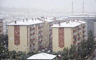 Erzurum'a kar yağdı, meteoroloji bile şaşırdı...