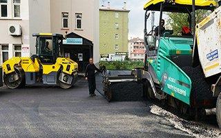 Yakutiye'den eğitime asfalt desteği