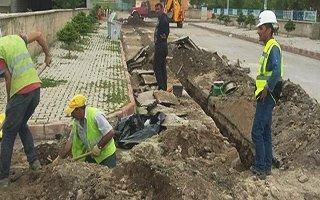 Pasinler'de doğalgaz için kazı çalışmaları başladı