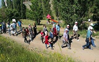 Palandöken'de doğa yürüyüşü düzenlendi