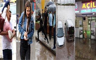 Erzurum'da aşırı yağışlar sele neden oldu