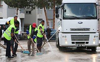 Aziziye Belediyesi bahar temizliğine başladı
