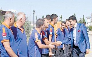 Erzurum AFAD'ın önemli bir misafiri vardı