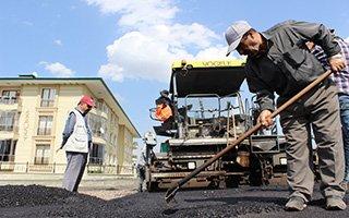 Aziziye ilçesinde asfalt seferberliği başladı