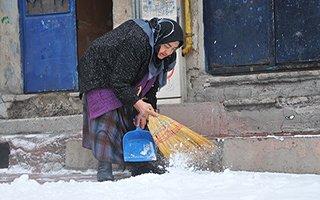 Erzurum'dan kar manzaraları! Kimine nimet kimine külfet...