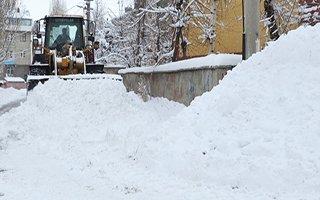 Palandöken belediyesi kar mesaisinde