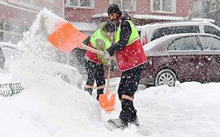 Yakutiye Belediyesinden karla mücadele