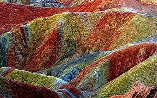 Oltu'daki gökkuşağı tepeleri altın değerinde