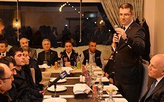 Vali Memiş AFAD ekipleri ile yemekte buluştu