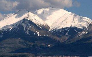 Palandöken'e yılın ilk karı yağdı