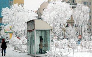 Erzurum'da kartposlallık görüntüler