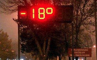 Termometrelerr -18 dereceyi gösterdi