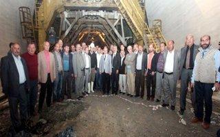 Erzurumlu Gazeteciler Ovit tünelini gezdi