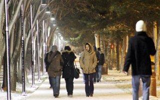 Erzurum'da soğuk havalar etkili oluyor