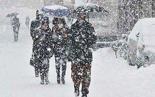 Erzurum ve Erzincan için kar uyarısı