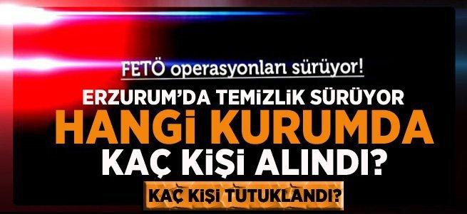 Erzurum'da tutuklu sayısı 356'ya yükseldi