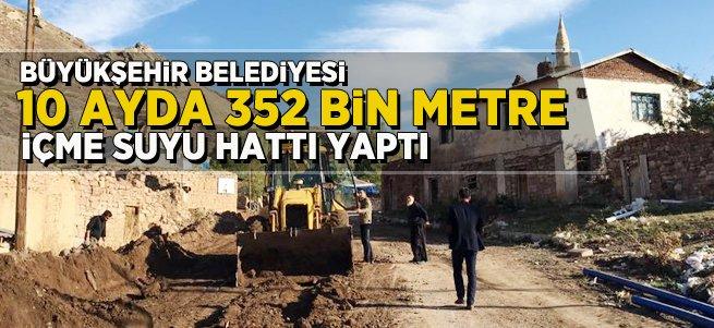 Büyükşehir 352 bin metre içme suyu hattı yaptı