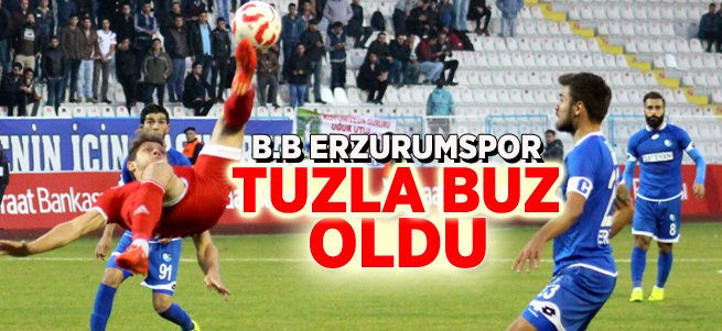 B.B. Erzurumspor Farklı Mağlup Oldu