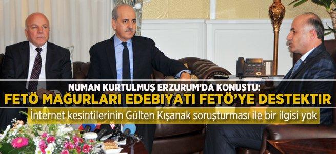 Numan Kurtulmuş Erzurum'da