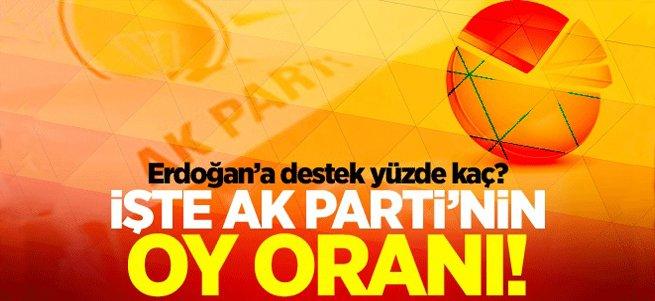 İşte AK Parti'nin en son oy oranı