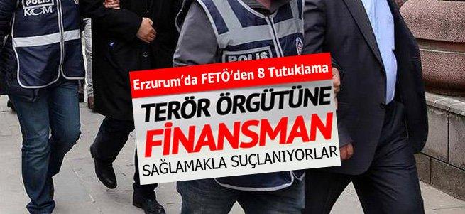 Erzurum'da FETÖ operasyonuna 8 tutuklama