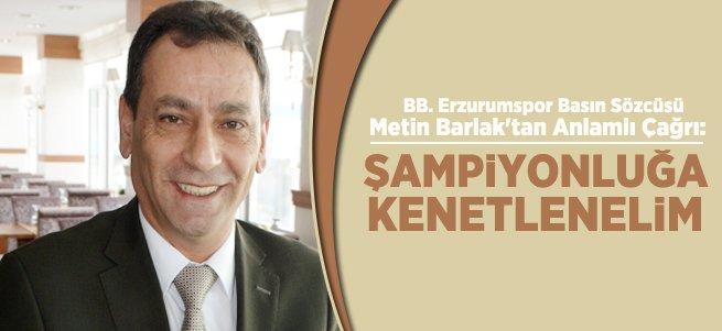 Basın Sözcüsü Metin Barlak'tan Anlamlı Çağrı