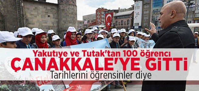 100 öğrenci Çanakkale Gezisine Gitti