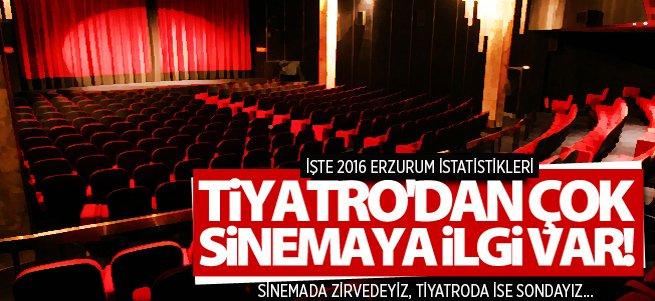 Erzurum sinemada 1, tiyatroda 11'inci...