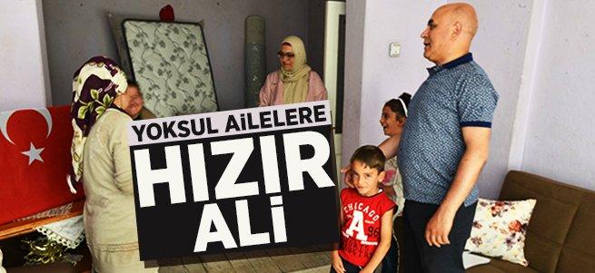 Ali Korkut, yoksul ailelere hızır gibi yetişiyor...